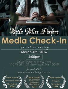 Little Miss Perfect Media Invite