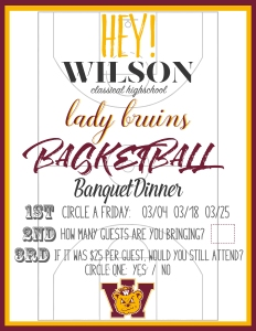 Wilson High Basketball Flyer 1