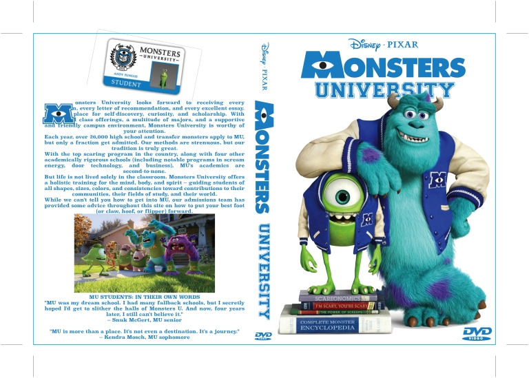 Monster University DVD Cover